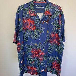 Tommy Bahama Silk Button up short sleeve shirt XXL